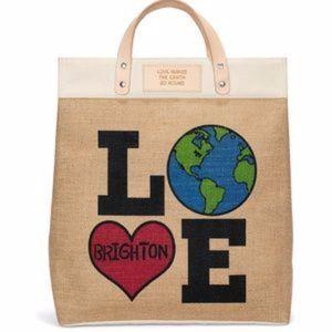 """NWT 2019 Brighton """"Love The Earth"""" Tote"""